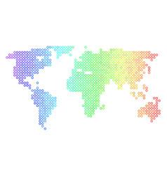 Spectrum cirle dot world map vector