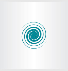 spiral swirl icon wave design vector image