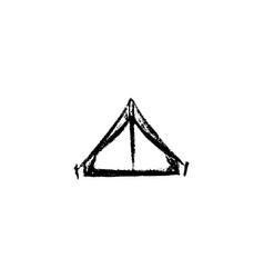 tent icon vintage vector image vector image
