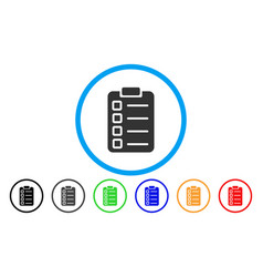 Test tasks rounded icon vector
