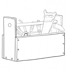 Tool box contours vector