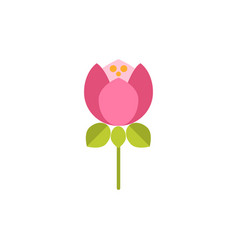 universal flower flat icon vector image