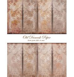 Vintage damask pattern texture royal vector