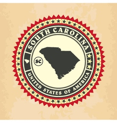 Vintage label-sticker cards of South Carolina vector