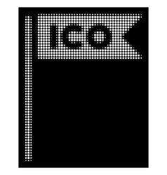 white halftone ico flag icon vector image