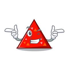 Wink triangel character cartoon style vector