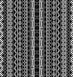 Black and white background with ethnic motifs vector image vector image