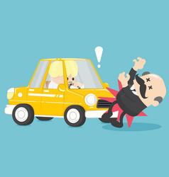 businessman car accident vector image