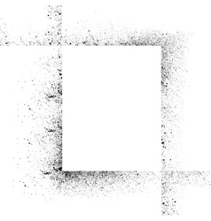 Ink blots square set-2 vector image