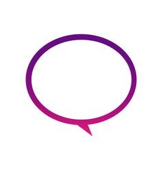 purple round chat bubble icon vector image