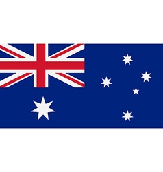 Rectangular Australia flag vector image