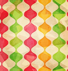 retro seamless pattern with grunge effect vector image vector image