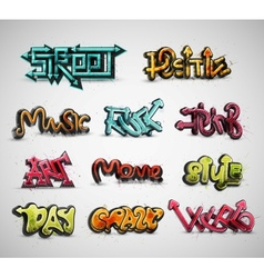 Set of graffiti vector image