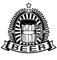 Vintage Beer vector image