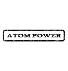 atom power watermark stamp vector image vector image