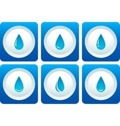 blue water drop set vector image vector image
