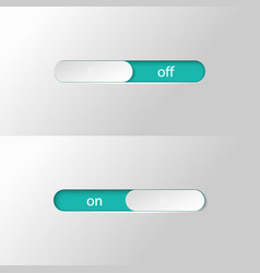button slider on off vector image vector image