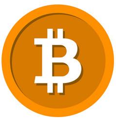 coin with a bitcoin sign vector image