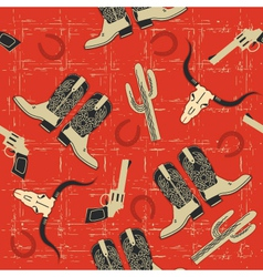 cowboy seamless pattern for background for d vector image vector image