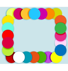 Frame made of color circles vector image