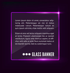 Glass banner vector