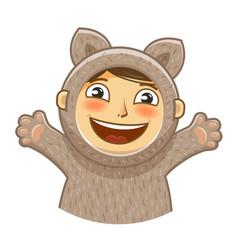 happy kid childrens party cartoon vector image