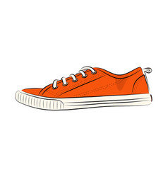 sketch of sport shoes sneakers for summer stock vector image vector image
