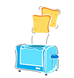 toaster with slice vector image