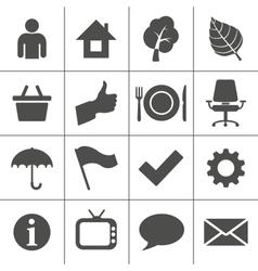 Web icons set - Simplus series vector image vector image