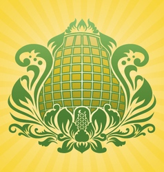 yellow flower ornament vector image vector image