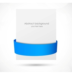 Abstract banner with blue ribbon vector image vector image
