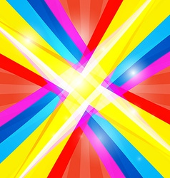 Abstract Colorful Retro Shiny Colorful Background vector image