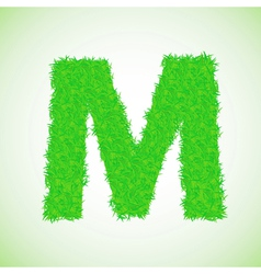 grass letter M vector image vector image