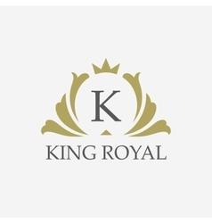 King placeboutique brandreal estateproperty vector image