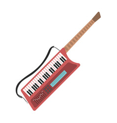 music synthesizer guitar keyboard audio piano vector image vector image