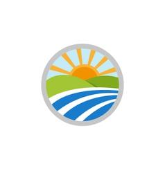 natural landscape logo icon vector image vector image