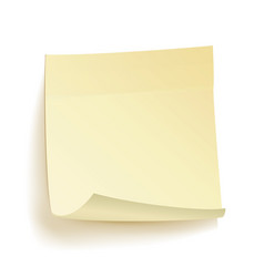 paper work notes isolated realistic yellow vector image