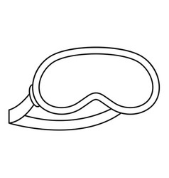 Sleeping mask icon outline style vector