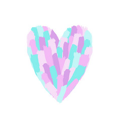 beautiful pastel paint heart shape vector image vector image