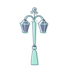 Classy outdoor lighting lantern lamp cute fairy vector