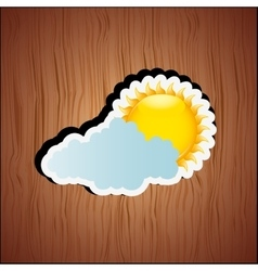cloudy day design vector image vector image