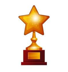Winner golden star vector image vector image