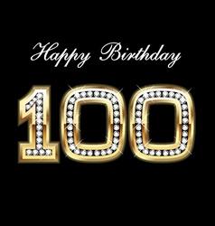 100 happy birthday vector image