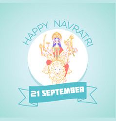 21 september navratri durga vector