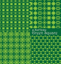 4 pattern green square vector image