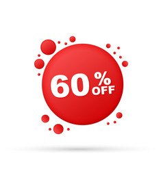 60 percent off sale discount banner discount vector image