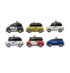 a set public service electric minicars vector image