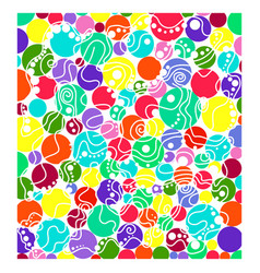 Abstract colored circles vector