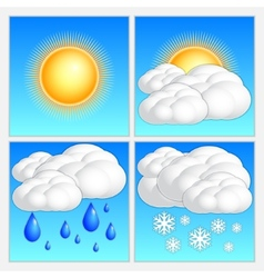 abstract day weather image set vector image