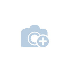 Add photo icon on white vector